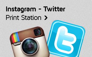 Instagram - Twitter Print Station